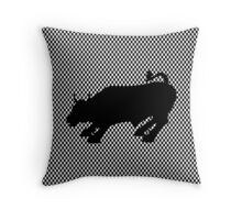 Charging Black Bull of Wall Street Throw Pillow