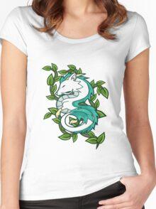 Haku // Spirited Away Women's Fitted Scoop T-Shirt