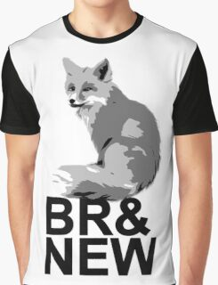 Br& New Fox Graphic T-Shirt