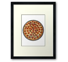 """Real"" Friends Pizza Framed Print"