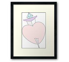 Dagger and Heart Framed Print