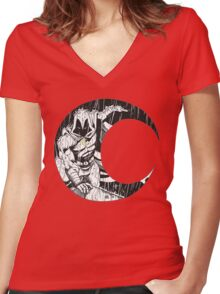 Moon Knight 2 Women's Fitted V-Neck T-Shirt
