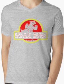 Safari zone Mens V-Neck T-Shirt