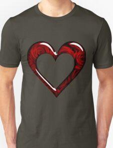 Love Heart Red Flowers T-Shirt