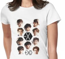EXO - Group Hex Womens Fitted T-Shirt