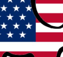American Flag Elephant  Sticker