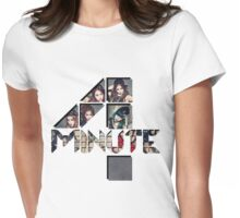 4 minute group logo Womens Fitted T-Shirt