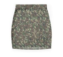 Woodland Forest Camouflage Pattern Mini Skirt