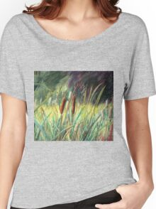 Bullrushes at Dudmaston Hall Women's Relaxed Fit T-Shirt