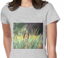 Bullrushes at Dudmaston Hall Womens Fitted T-Shirt