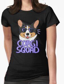 CORGI SQUAD (black tricolor) Womens Fitted T-Shirt