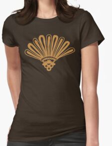 Yellow aztec Womens Fitted T-Shirt