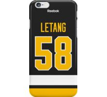 Pittsburgh Penguins Kris Letang Alternate Jersey Back Phone Case iPhone Case/Skin