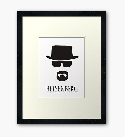 Heisenberg 'Walter White' Framed Print