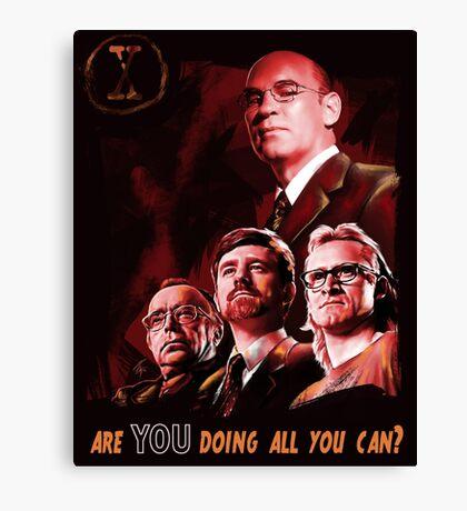 X-Files Lone Gunman Propaganda  Canvas Print