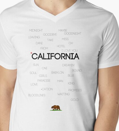 California ♪ Mens V-Neck T-Shirt