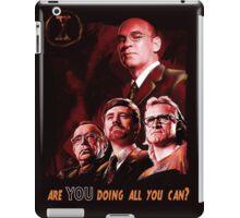 X-Files Lone Gunman Propaganda  iPad Case/Skin