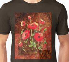 Decorative Red Poppies Unisex T-Shirt