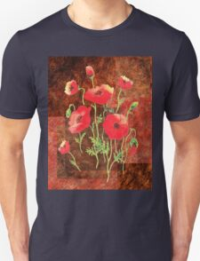 Decorative Red Poppies T-Shirt