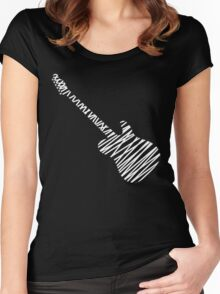 Telecaster guitar sketch Women's Fitted Scoop T-Shirt