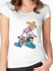 Mario Kart 8 - Princess Peach Women's Fitted Scoop T-Shirt