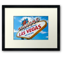 Welcome to fabulous Las Vegas Framed Print