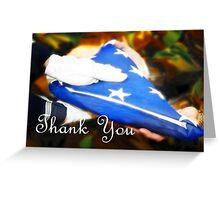 Thank you for your Service Greeting Card