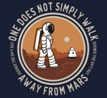 Not Simply Walk Away from Mars Kids Tee