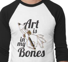 Art is in my Bones Men's Baseball ¾ T-Shirt