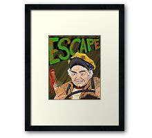Cabbie's Escape! Framed Print