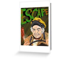 Cabbie's Escape! Greeting Card
