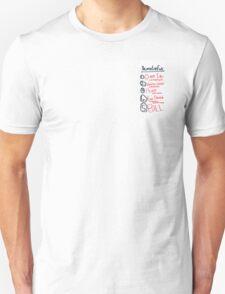 Kill Bill Death List Five Unisex T-Shirt