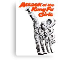 Kung Fu Attack Girls Canvas Print