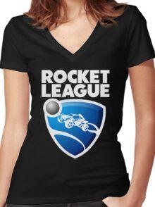 Rocket League Logo Women's Fitted V-Neck T-Shirt