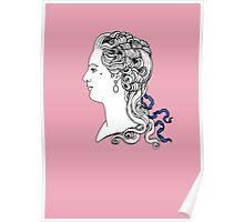 Marquise de Pompadour cameo Poster