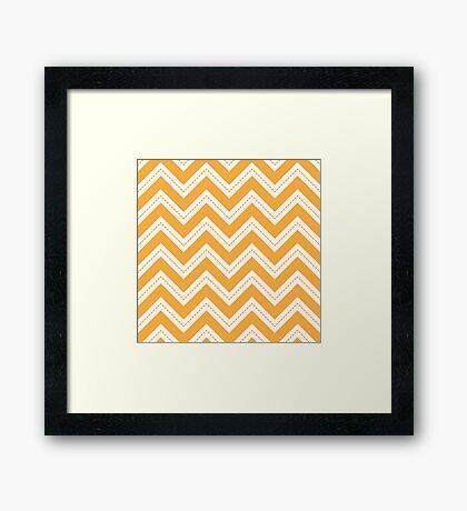 Yellow Chevron Framed Print