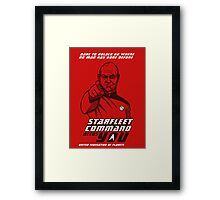 Starfleet Command enlist Framed Print