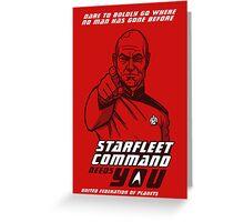 Starfleet Command enlist Greeting Card