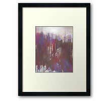 Glitch 'n slide Framed Print