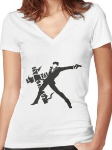 Wolfwood Women's Fitted V-Neck T-Shirt