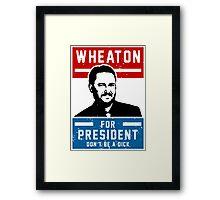 President Wheaton Framed Print