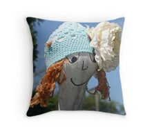 Hats Off to Gardeners Throw Pillow
