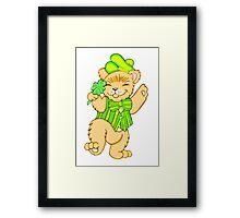 Irish Bear with Shamrock Framed Print