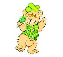 Irish Bear with Shamrock Photographic Print