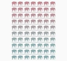 Elephant's Marching Pattern One Piece - Short Sleeve
