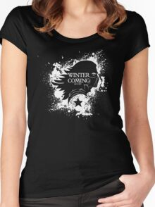 Bucky is coming Women's Fitted Scoop T-Shirt