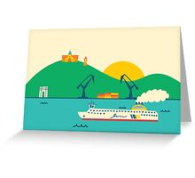 Sunrise at the Port Greeting Card