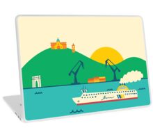 Sunrise at the Port Laptop Skin