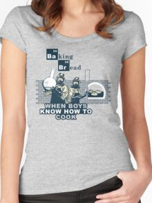 Baking Bread Blue variant Women's Fitted Scoop T-Shirt