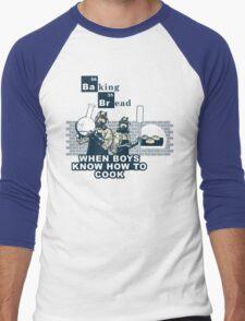 Baking Bread Blue variant Men's Baseball ¾ T-Shirt